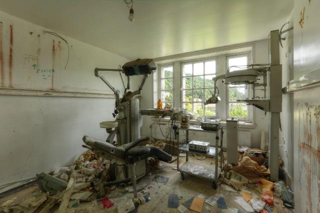 La casa abandonada de un dentista