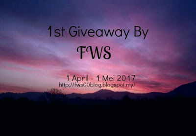 1st Giveaway By - FWS