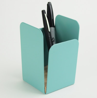 powder coated steel pencil cup