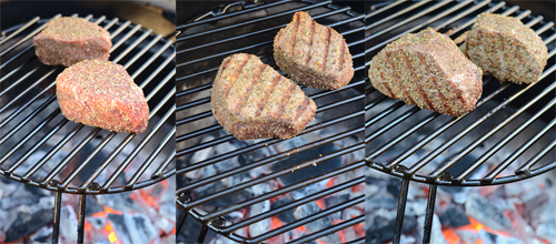 direct raised kamado, Grill Dome accessory, filet, beef, steak