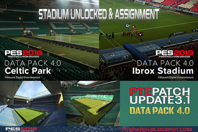 PES 2019 Stadium Unlocked & Assignment DLC 4.0 for PTE Patch 2019