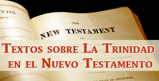 Textos sobre La Trinidad en el Nuevo Testamento