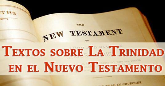 Textos sobre La Trinidad en el Nuevo Testamento   Recursos Adventistas