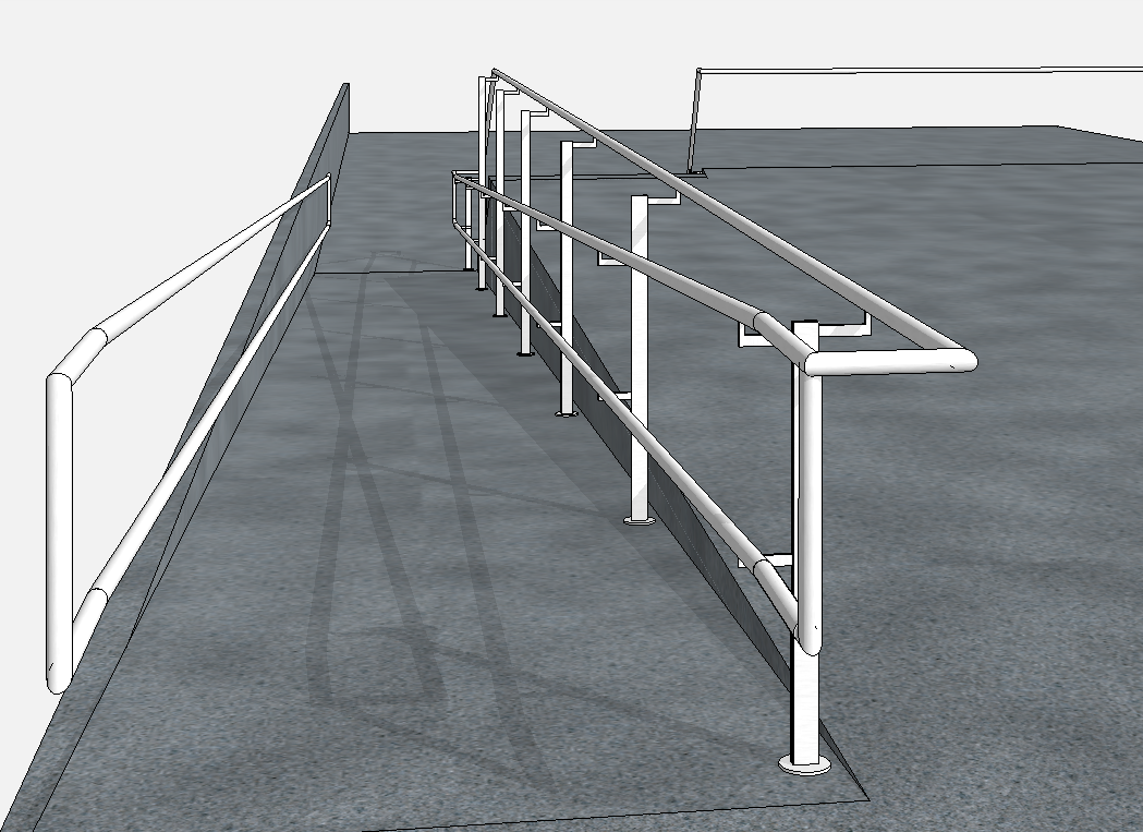 railings not following quirky staircase