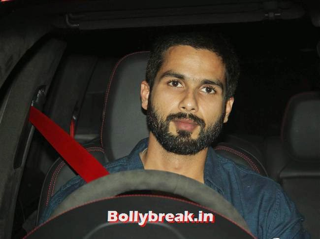 Shahid Kapoor, Bollywood celebs Clicked in their Cars at 2 States Special Screening