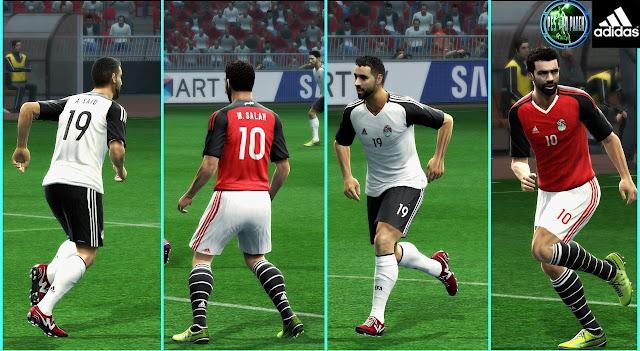 PES 2013 Egypt Afcon 2017 Kits By Mustafa Issa