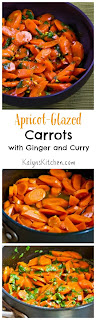 Apricot-Glazed Carrots with Ginger and Curry [found on KalynsKitchen.com]