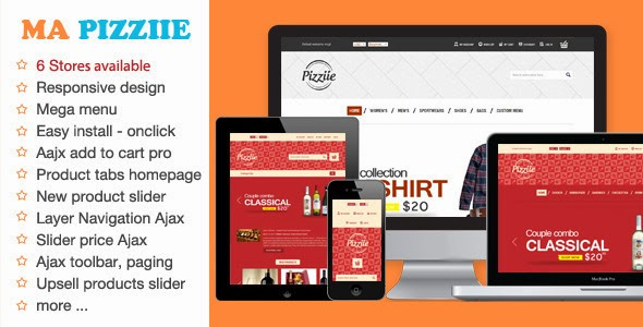 Pizziie - Multipurpose Magento Theme