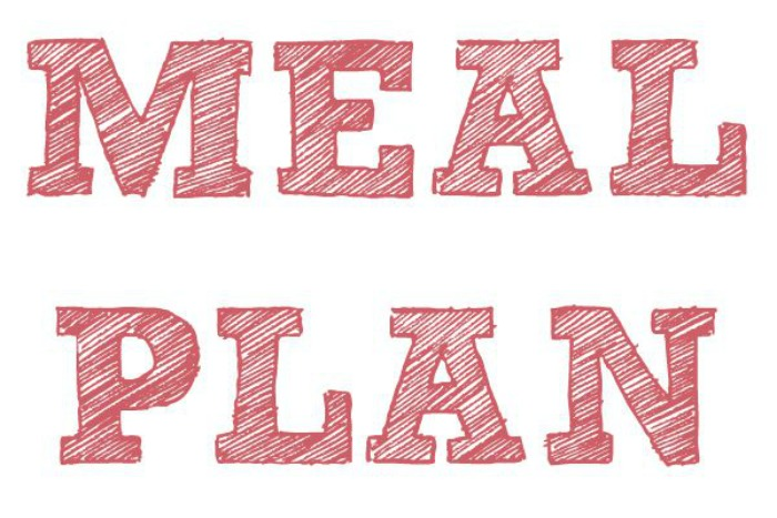 Meal Plan 24th - 30th October 2016