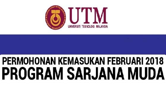 Permohonan kemasukan UTM Februari 2018 Online ambilan kedua