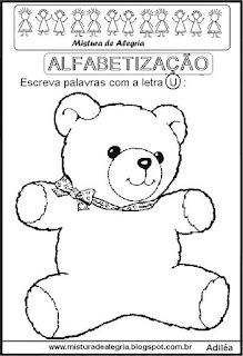 Desenho de ursinho e dia da criança