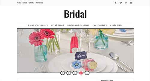 Bridal Blogger Template