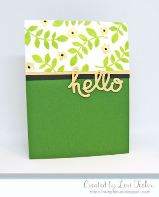 Hello card-designed by Lori Tecler/Inking Aloud-stamps and dies from Paper Smooches