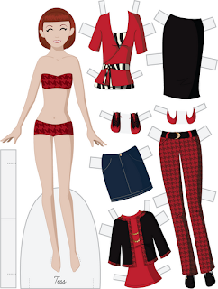 Tess - Fashion Friday Paper Doll