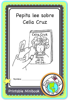 Printable Spanish Minibook about Celia Cruz