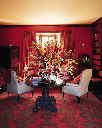 HOME DESIGNS TRICKS Red Dining Room