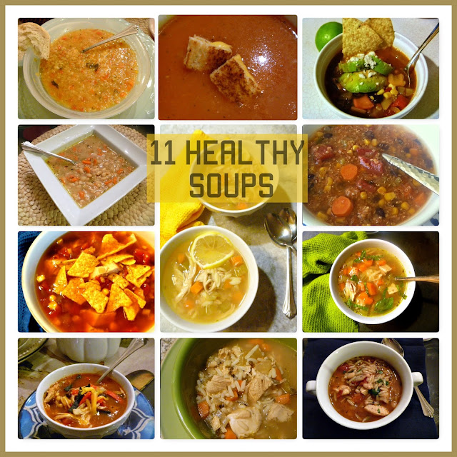 11 Healthy Soups - Winter is soup season.  Make some today! - Slice of Southern