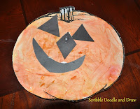 Mix colors to make a fun jack o lantern craft for kids