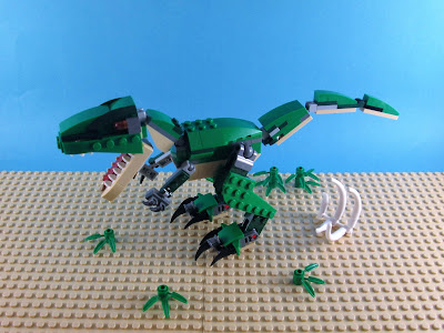 Set LEGO Creator 3in1 31058 Mighty Dinosaurs modelo 1 Tyrannosaurus Rex