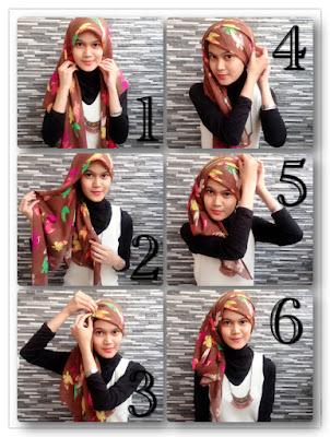 Gambar Tutorial Cara Memakai Hijab by Feni Rezaniah