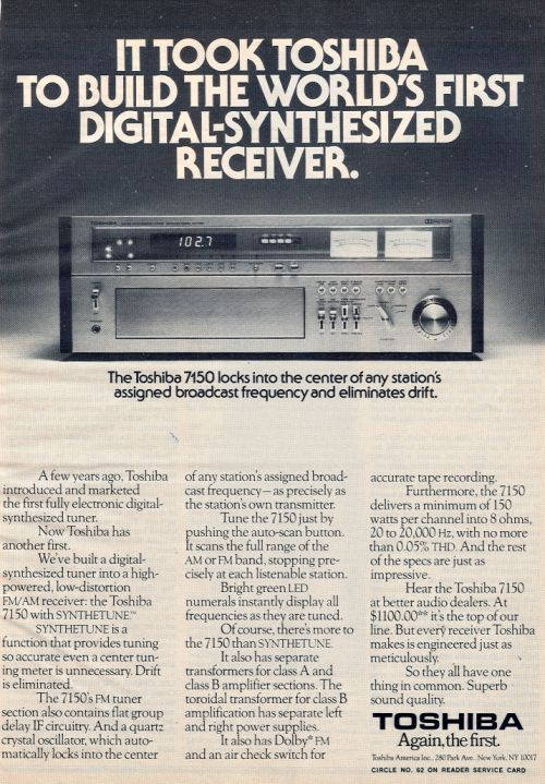 World's First Digital Synthesizer Receiver.