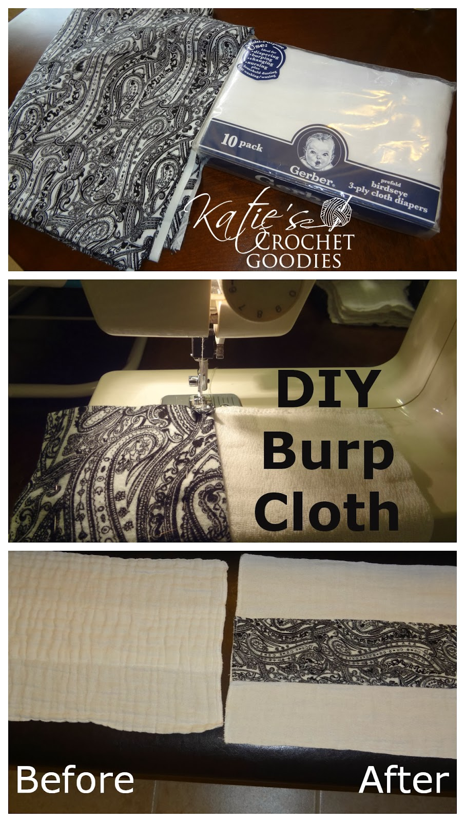 how to make your own burp cloth