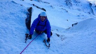 Guided winter climbing on Cairngorm's east face with Sean