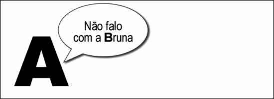 Diálogo em anonimato por procurador: - Não falo com a Bruna!