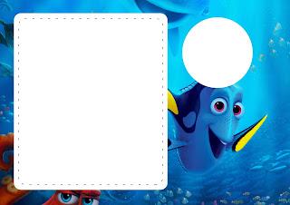 Para hacer invitaciones, tarjetas, marcos de fotos o etiquetas, para imprimir gratis de Buscando a Dory.