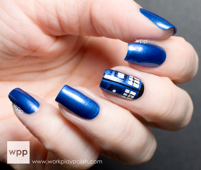 Dr. Who Tardis Nail Art