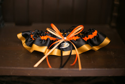Anaheim Ducks Wedding Garter by Sugarplum Garters