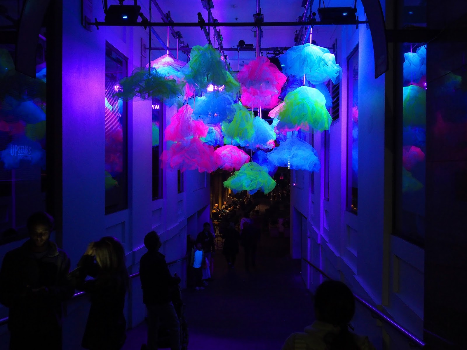 Vivid Sydney Alley with flowers
