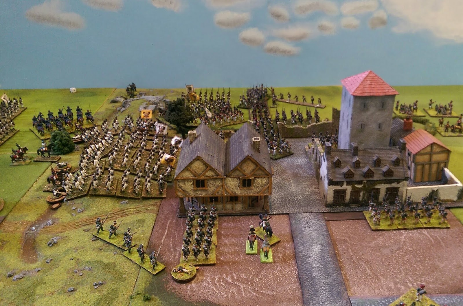 End of play on Friday on my flank, with half the town now in Russian possession