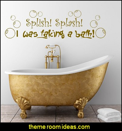Splish Splash Bathroom Bubbles Wall Sticker Decal Transfer Mural Stencil Art