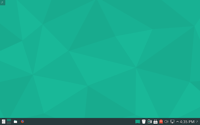 Manjaro KDE desktop - First impression