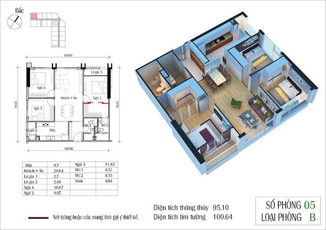 Thiết kế căn hộ 05 tòa CT2 Eco Green City
