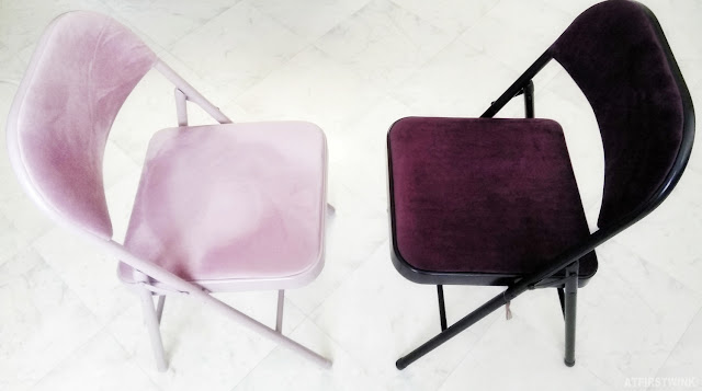 Sostrene grene pink and dark purple fold up chair