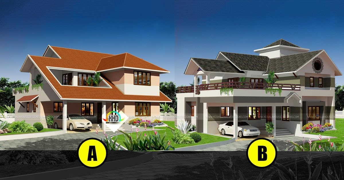 2 different elevations with same sq ft and facilities for Different elevations of house