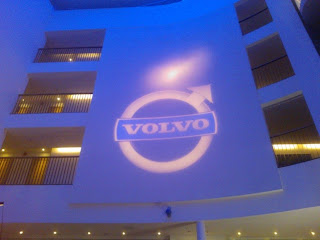 Volvo Logo on the Wall of a Swedish Hotel