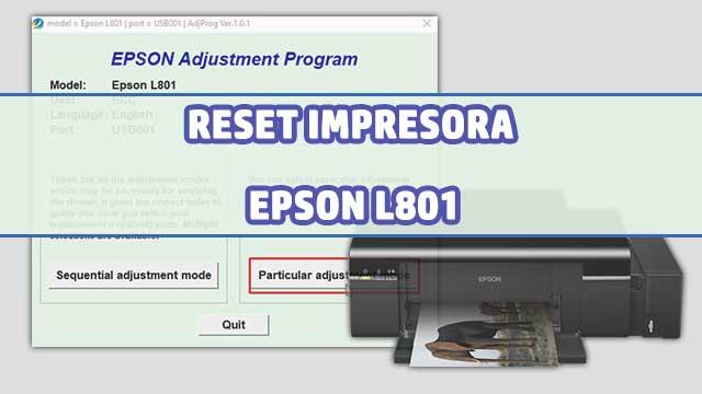 Reset almohadillas de la impresora EPSON L801