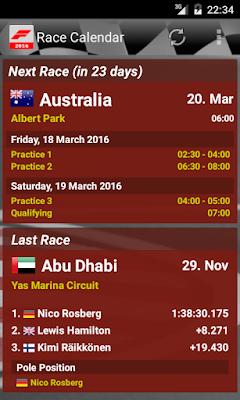 Race Calender 2016