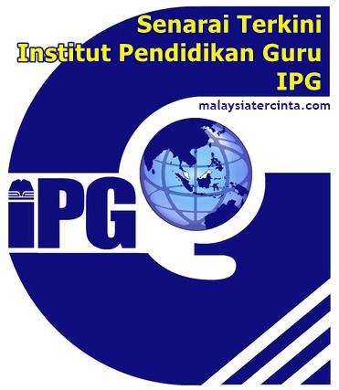 senarai IPG Malaysia