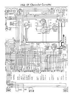 free auto wiring diagram 1958 1959 chevrolet corvette. Black Bedroom Furniture Sets. Home Design Ideas