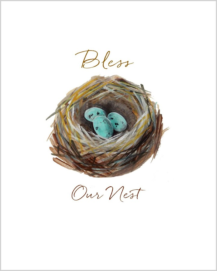 Bless our nest free printable