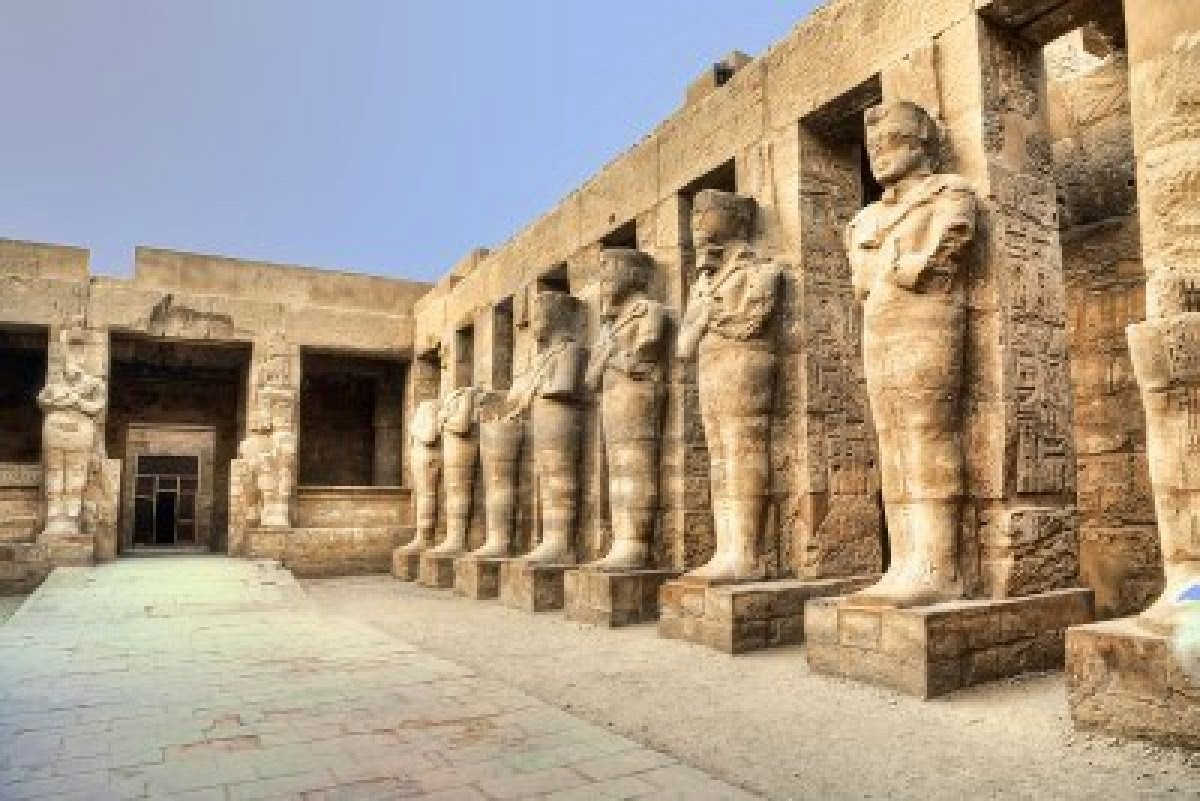 Egyptian Civilization Night The House Of The God Amon