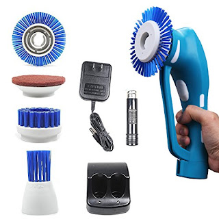 Handheld Cordless Power Spin Household Scrubber with Rechargeable Battery