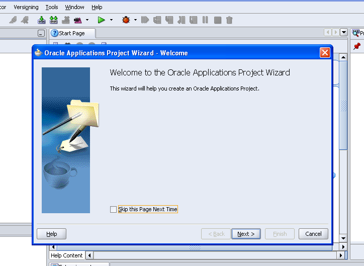 how to create a project in oracle apps