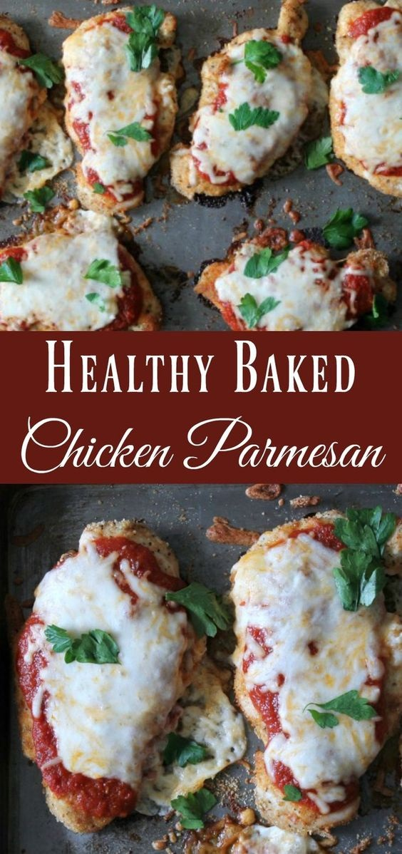 Healthy Baked Chicken Parmesan