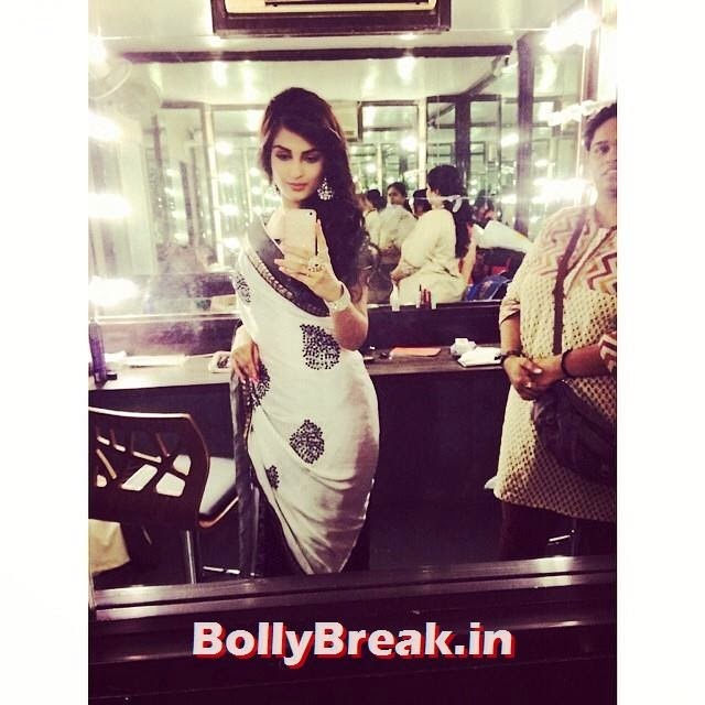 shiny Doshi hot photo in tight saree