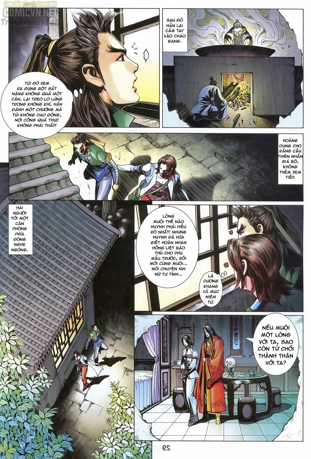 Anh Hùng Xạ Điêu anh hùng xạ đêu chap 68: di thư chân kinh - lừa tình trang 30